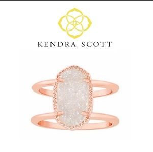 ❌CCO❌■Kendra Scott■ (7) Elyse Rose Drusy Ring